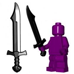 Lego Minifig BrickWarriors - Falchion (Noir)