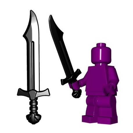 Lego Minifig BrickWarriors - Falchion (Noir)