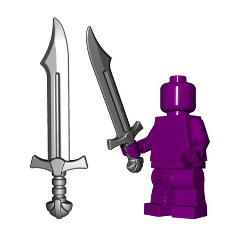 Lego Minifig BrickWarriors - Falchion (Steel)