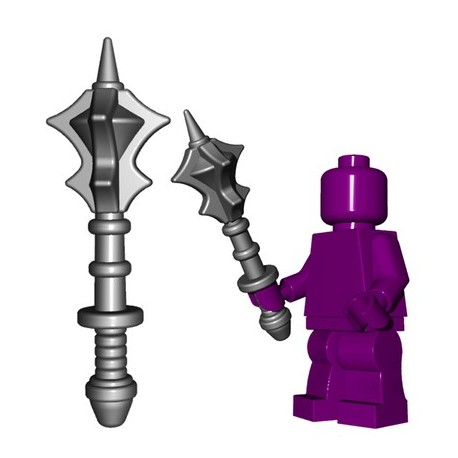 Lego Minifig BrickWarriors - Flanged Mace (Steel)