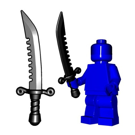 Lego Minifig BrickWarriors - Breaker Sword (Noir)