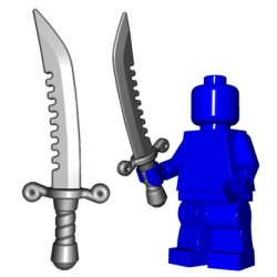 Lego Minifig BrickWarriors - Breaker Sword (Steel)