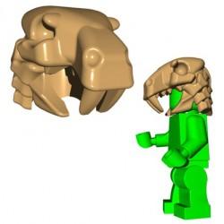 Lego Minifig BrickWarriors - Sabertooth Helm (Beige)