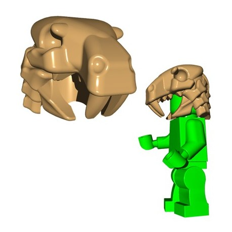 Lego Minifig BrickWarriors - Sabertooth Helm (Beige)