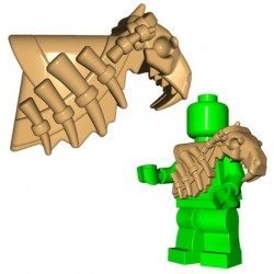 Lego Minifig BrickWarriors - Armure Sabertooth (Beige)