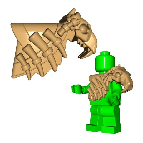 Lego Minifig BrickWarriors - Armure Sabertooth (Beige)