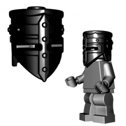 Brick Warriors - Crusader Helm (Black)