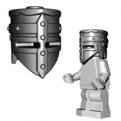 Lego Minifig BrickWarriors - Heaume de Croisé (Steel)