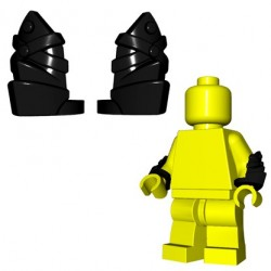 BrickWarriors - Leather Vambraces (Black - Pair)