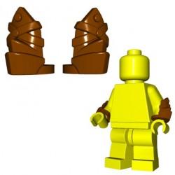BrickWarriors - Leather Vambraces (Brown - Pair)