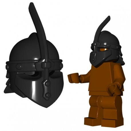 Lego Minifigure BrickWarriors - Caque de Thrall (Noir)