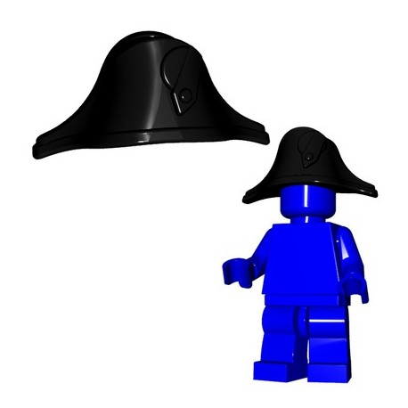Lego Minifig BrickWarriors - Bicorne (Noir)