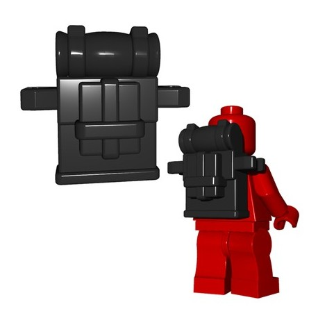 Lego Minifigures BrickWarriors - British Knapsack (Noir)