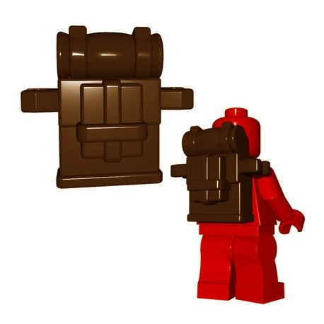 Lego Minifigs BrickWarriors - British Knapsack (Marron)