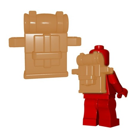 Lego Minifig BrickWarriors - British Knapsack (Beige)