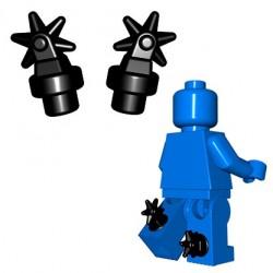 Lego Minifigures BrickWarriors - Eperons (Noir - la paire)