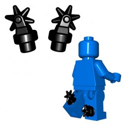 BrickWarriors - Spurs (Black - Pair)