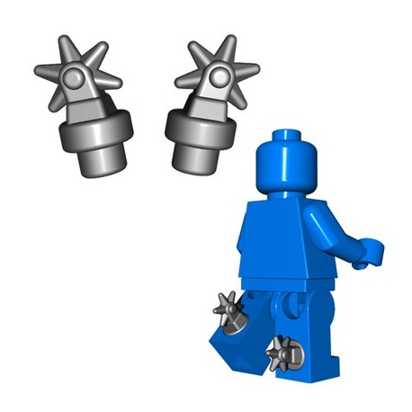 Lego Minifigure BrickWarriors - Eperons (Steel - la paire)