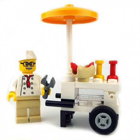 Lego - Vendeur de Hot Dog (Minifigure)