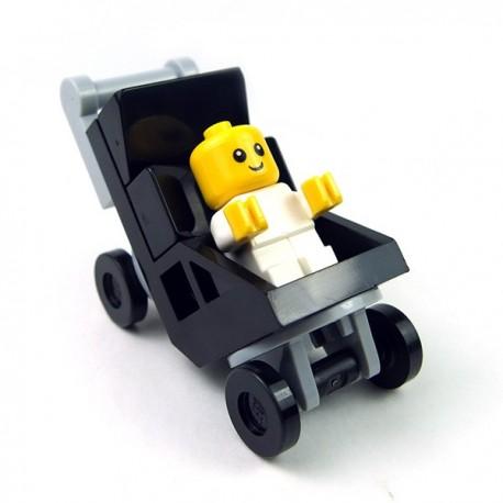 Lego - Pousette et Bébé (Minifigure)