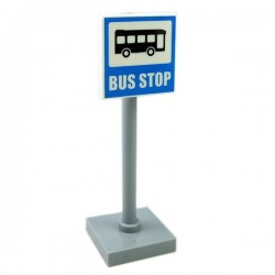 Lego - Road Sign Bus Stop