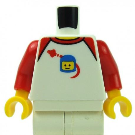 Lego - White Torso Shirt, Spaceship Orbiting Classic Space Helmet