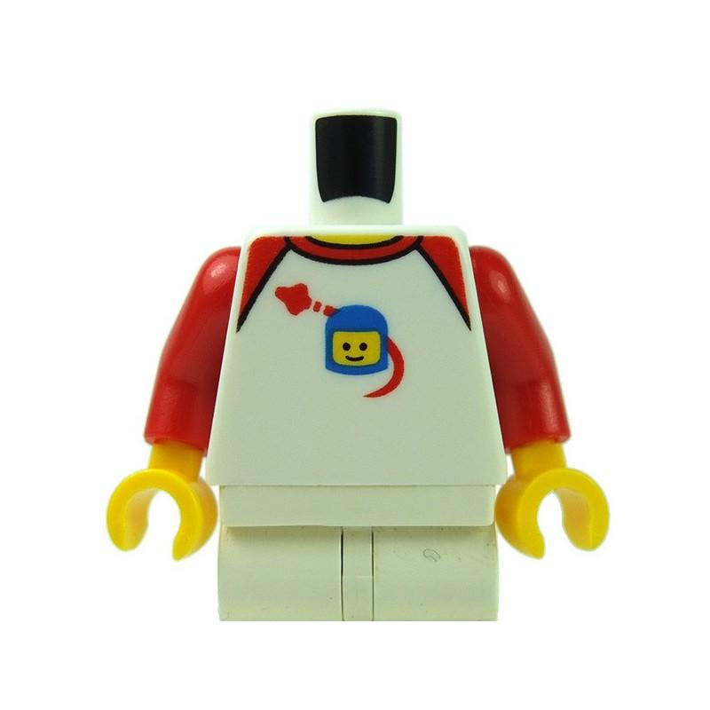 lego accessoires minifig torse t shirt blanche vaisseau spatial en orbite blanc. Black Bedroom Furniture Sets. Home Design Ideas