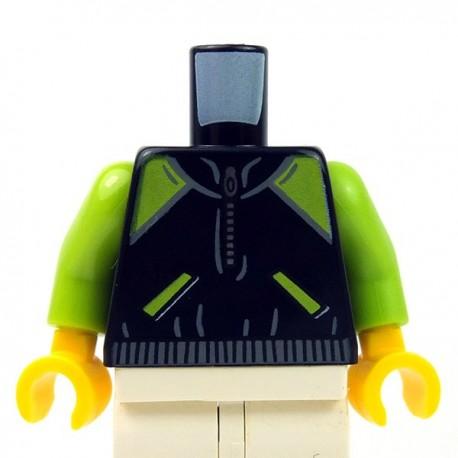 LEGO Town Red Zipper Jacket Minifig Torso Body Part