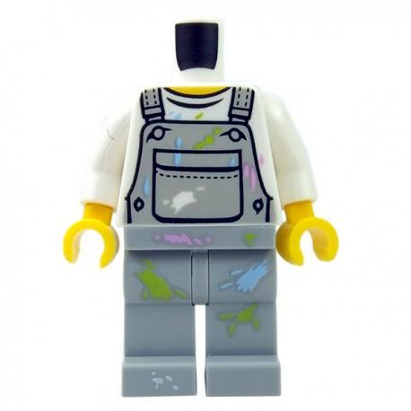 Lego Minifig - Torse + Jambes - Salopette de peintre