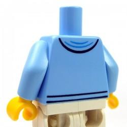 Lego Minifig - Torse - Sweat à capuche ouvert avec chemise violette & étoile d'argent