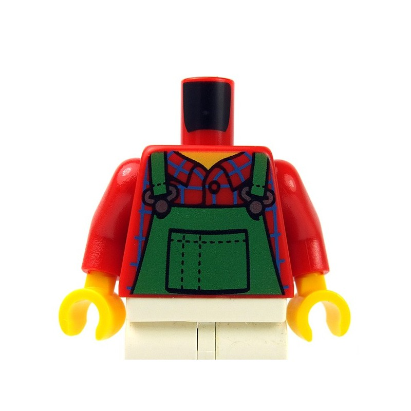 Lego New Black Torso Jacket with White Stitching White Shirt Black Tie Vest