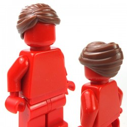 LEGO - Reddish Brown Minifig, Hair Female Swept Back Into Bun
