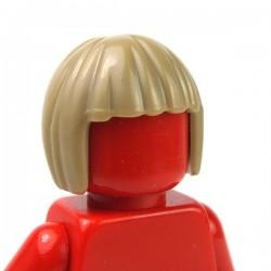 LEGO - Dark Tan Minifig, Headgear Hair Short, Bob Cut