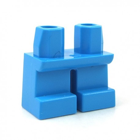 LEGO Minifigure - Jambes courtes (Dark Azure)