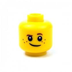 Lego Minifigure - Tête masculine jaune, 76