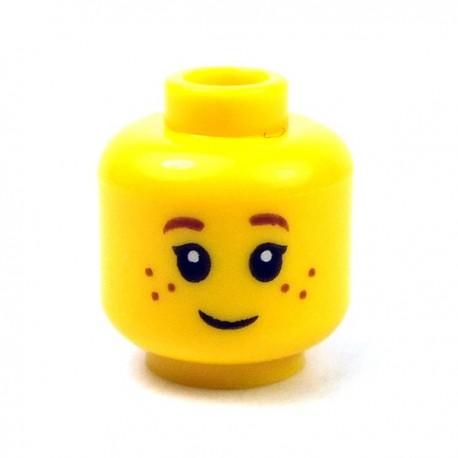 LEGO Minifigure - Tête féminine jaune 16