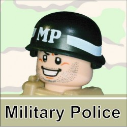 Lego Minifigure Si-Dan Toys - Casque US M-1 Army (Noir - MP)