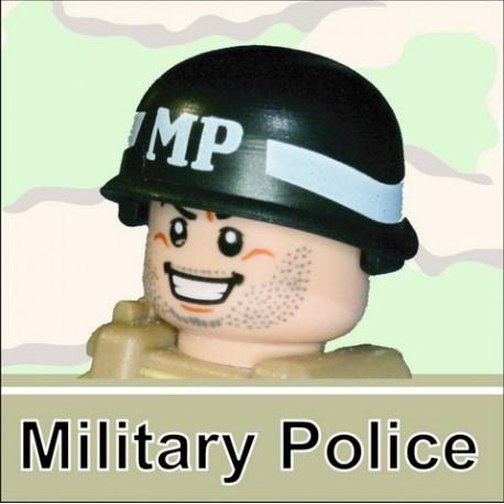 Lego Minifigure Si-Dan Toys - Casque US M-1 Army (Noir - MP)