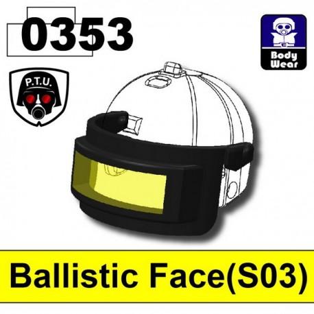 Lego Minifig Ballistic Face 0353 (visière pour casque 2002K) (Black)