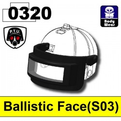 Ballistic Face 0320 (for 2002K Helmet) (Black)