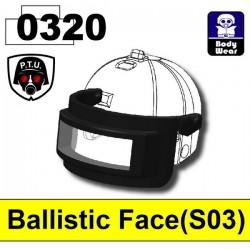 Lego Minifig Ballistic Face 0320 (visière pour casque 2002K) (Black)