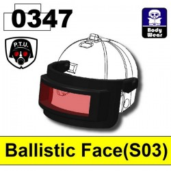 Ballistic Face 0347 (for 2002K Helmet) (Black)