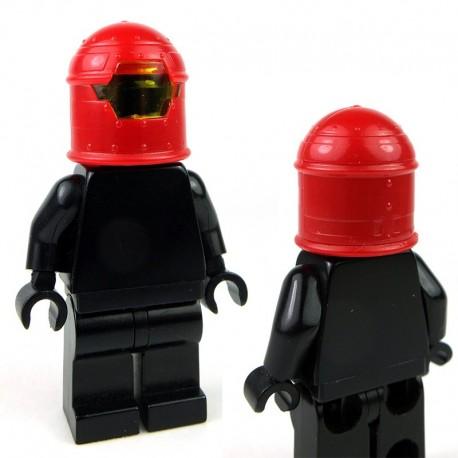 Lego Minifigure Si-Dan Toys - Casque Robot (Rouge)