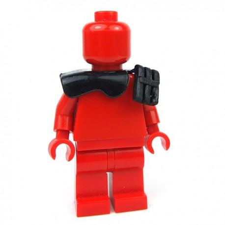 Lego Accessoires Minifig Si-Dan Toys - Epaulette BM18 (Noir)