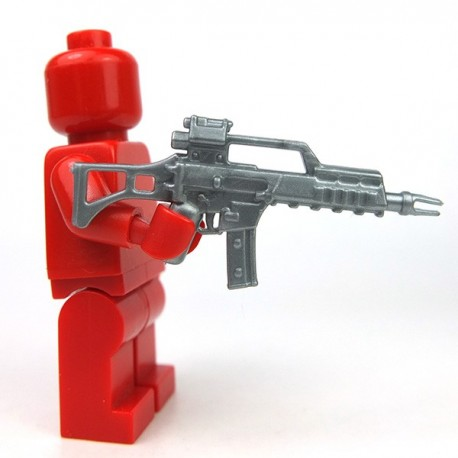 Lego Accessoires Minifigure Si-Dan Toys - G36C (Flat Silver)