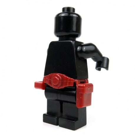 Lego Accessoires minifigure Custom Si-Dan Toys - Ceinture Tactical USF-M2a (Rouge foncé)