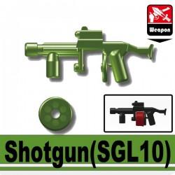 Lego Minifigure Accessoires Si-Dan Toys - Shotgun SGL10 (Vert Militaire)
