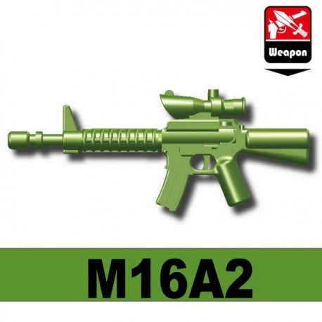 Lego Minifigure Accessoires Si-Dan Toys - M16A2 (Vert Militaire)