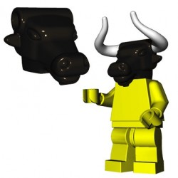 Lego Accessoires Minifigure BrickWarriors - Tête de Minotaure (Noir)