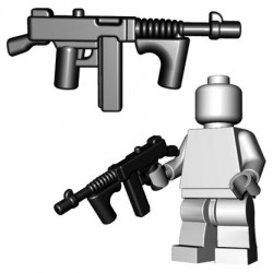 Lego Minifigure BrickWarriors - Gangster SMG (Noir)